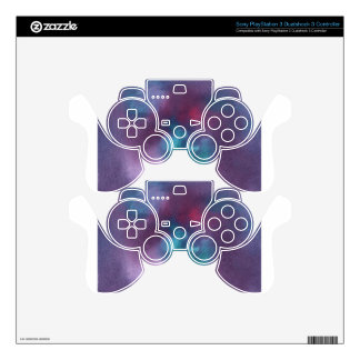 Abstract Design from Original Painting Skins For PS3 Controllers