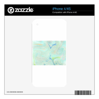 Abstract Design from Original Painting Skins For The iPhone 4