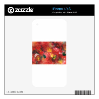 Abstract Design from Original Painting Skin For The iPhone 4