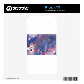 Abstract Design from Original Painting Skins For The iPhone 4S