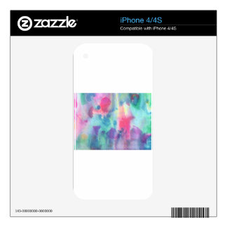 Abstract Design from Original Painting Skins For iPhone 4
