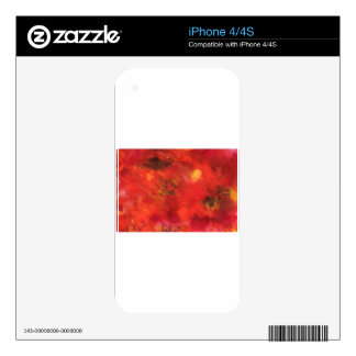 Abstract Design from Original Painting Skin For iPhone 4S