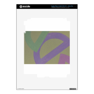 Abstract Design from Original Painting Skin For iPad 3