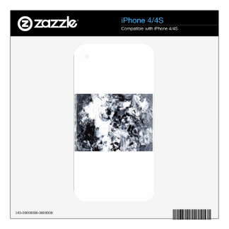 Abstract Design from Original Painting Skins For iPhone 4S
