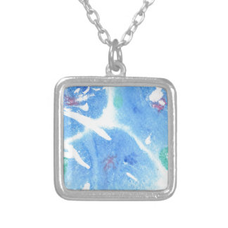 Abstract Design from Original Painting Square Pendant Necklace