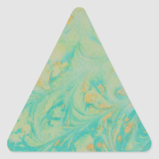 Abstract Design from Original Painting Triangle Sticker