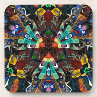 Abstract Design Full of Colors Beverage Coaster