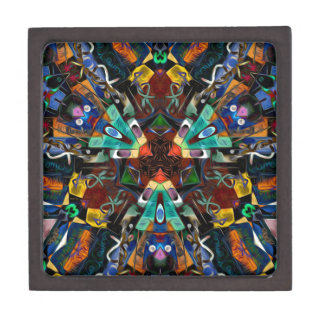 Abstract Design Full of Colors Premium Gift Box