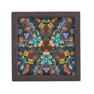 Abstract Design Full of Colors Premium Jewelry Boxes