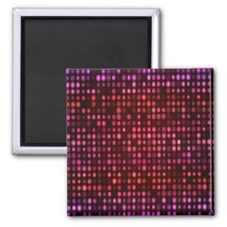 Abstract Design Geometric Purple And Lilac Circles Magnet