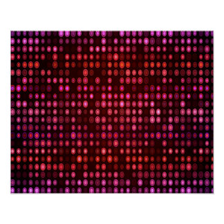 Abstract Design Geometric Purple And Lilac Circles Poster
