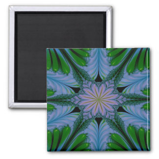 Abstract Design Green And Blue Magnet