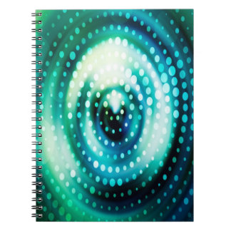Abstract Design Green & White Concentric Circles Notebook