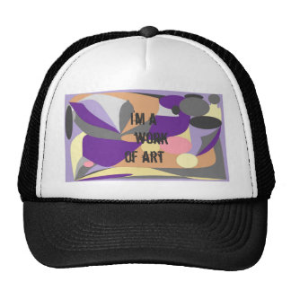 Abstract design cap