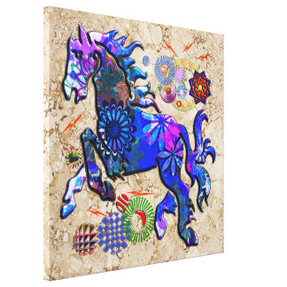 Abstract Design Horse Stretched Canvas Prints