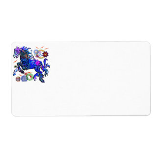 Abstract Design Horse Custom Shipping Label