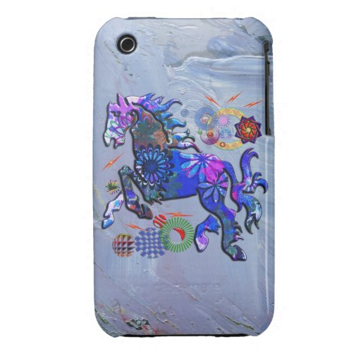 Abstract Design Horse iPhone 3 Case