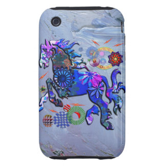 Abstract Design Horse iPhone 3 Tough Cover