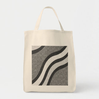 ABSTRACT DESIGN IN BLACK AND GRAY  TOTE BAG