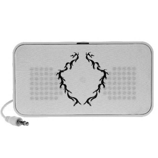 Abstract Design in Black and White. iPod Speakers