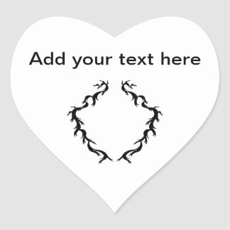 Abstract Design in Black and White. Heart Sticker