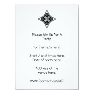 Abstract Design in Black. Card