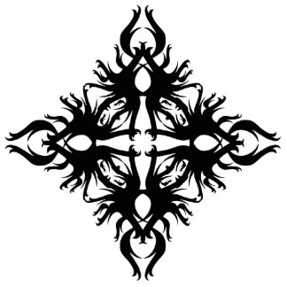 Abstract Design in Black. Cutout