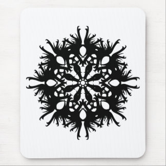 Abstract Design in Black Mouse Pad