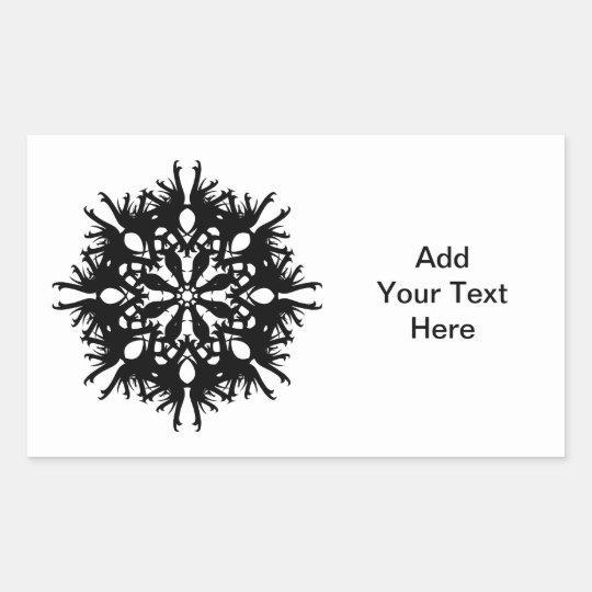 Abstract Design in Black Rectangular Sticker