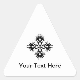 Abstract Design in Black. Triangle Sticker