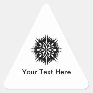 Abstract Design in Black Triangle Sticker