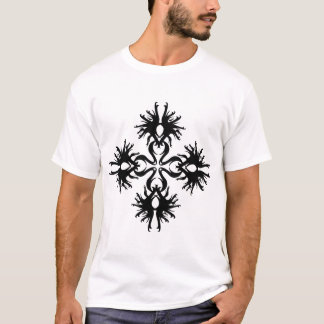Abstract Design in Black. T-Shirt