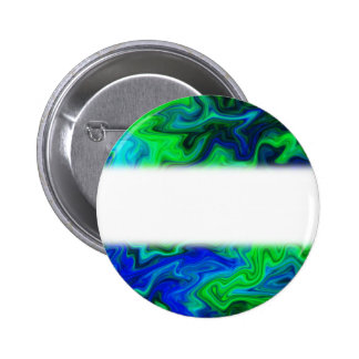 Abstract Design in Blue and Green. Pinback Button