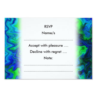 Abstract Design in Blue and Green. Card