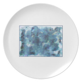 Abstract Design in Blue. Dinner Plate