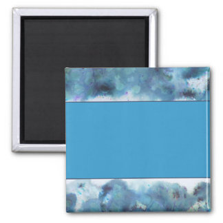Abstract Design in Blue. 2 Inch Square Magnet