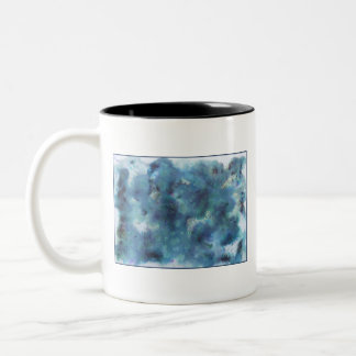 Abstract Design in Blue. Mug