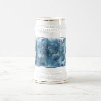 Abstract Design in Blue. Coffee Mug