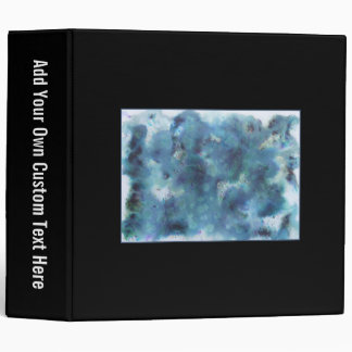 Abstract Design in Blue. On Black. Binder