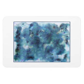 Abstract Design in Blue. Rectangular Photo Magnet