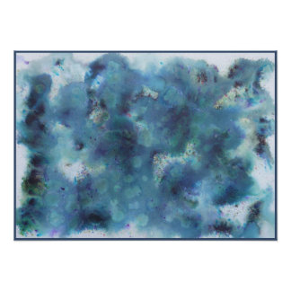 Abstract Design in Blue. Print