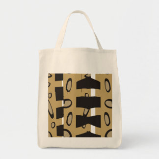 ABSTRACT DESIGN IN GOLD AND BROWN  TOTE BAG