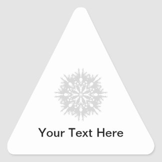 Abstract Design in Light Gray Triangle Sticker
