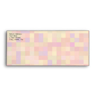 Abstract Design in Pastel Colors. Envelope