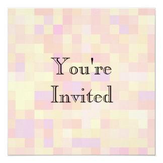 Abstract Design in Pastel Colors. 5.25x5.25 Square Paper Invitation Card