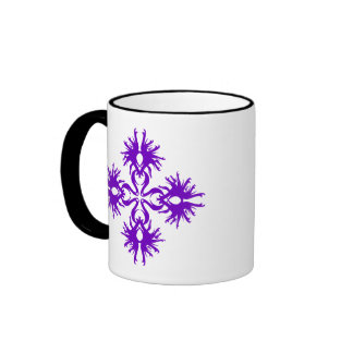 Abstract Design in Purple. Mugs
