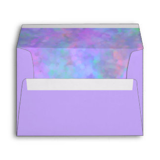 Abstract Design in Purple Pink Blue Envelope