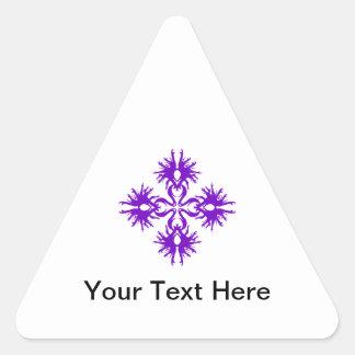 Abstract Design in Purple. Triangle Sticker