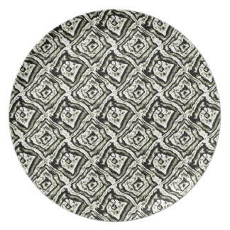 ABSTRACT Design in Summer Flowers Plate