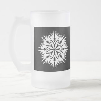 Abstract Design in White. Coffee Mugs